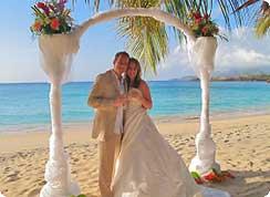 Poroka v tujini, karibi, Grenada, poroka na plaži