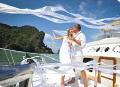 Poroka v tujini, Karibi, Tobago, poroka na katamaranu