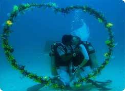 Poroka v tujini, Karibi, Tobago, poroka pod vodo